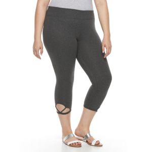 Plus Size French Laundry Cutout Capri Leggings